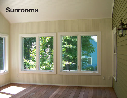 Misc remodeling projects for Timber frame sunroom addition